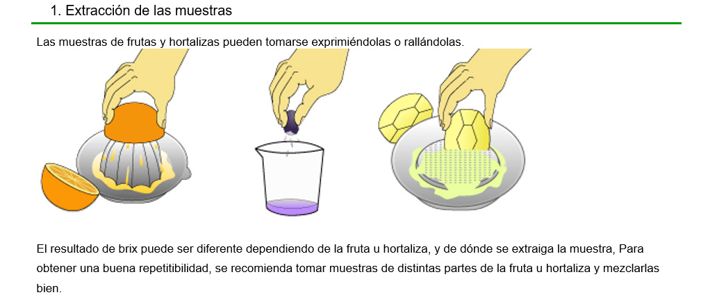 Extraccion de las muestras